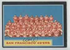 1962 Topps #163 San Francisco 49ers Team Football Card