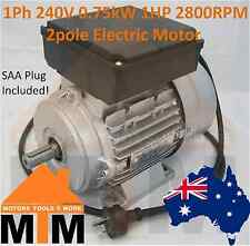 Single Phase Electric Motor 240V 0.75kW 1HP 2800RPM 2pole