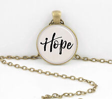 """Hope"" Word Pendant Inspiration Necklace Jewelry or Key Ring"