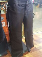 Harley-Davidson GENUINE WOMEN'S Contoured Boot Cut Leather Pants, NEW WITH TAGS