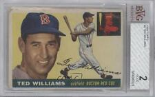 1955 Topps #2 Ted Williams BVG Boston Red Sox Baseball Card