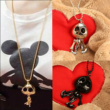 Lovely Gifts Skull Skeleton Pendant Women Necklace Chain Neck Decoration Drop
