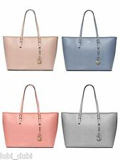 NWT MICHAEL Michael Kors Jet Set Travel Medium Top Zip Multifunction Tote $298