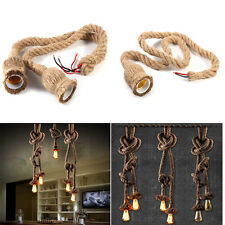Retro Country Style Rope Pendant Light Hanging Lamp For Parlor Corridor Cafe Bar