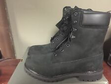 Timberland Mens 8 Inch Double Sole Premium BLACK NUBUCK Work Boots Style 98540