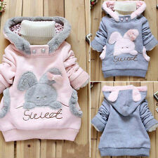 Toddler Baby Kids Girls Fleece Hoodies Pullover Hoody Jacket Coat Winter Outwear
