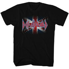 Def Leppard Mens New T-Shirt British Flag Licensed S/S Black 100% Cotton SM  2XL