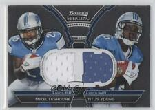 2011 Bowman Sterling Box Topper Dual Relic #BSDR-LY Mikel Leshoure Titus Young