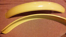New Quanity 2 Yellow Plastic Front Fender NOS not in origanl package