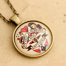 Sailor Jerry Handmade Necklace - Rockabilly Screwed Stewed & Tattooed Pin-up