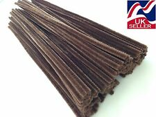 "10 - 1000 x BROWN chenille craft stems pipe cleaners 30cm (12"") long, 6mm wide"