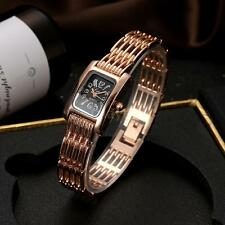 Lvpai Women Gold Crystal Bracelet Watch Analog Quartz Lady Dress Wristwatch O8F8