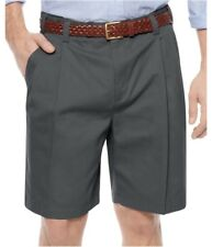 Geoffrey Beene Mens Extender Double Waist Casual Chino Shorts