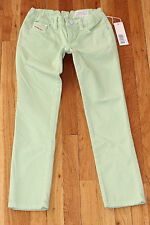 NWT~DIESEL~Cuddy YB6~Pantalone~Green girls jeans~Sizes 7 & 8~$99