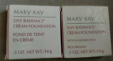 - Mary Kay Day Radiance Cream Foundation, D SHAPED New in box, CHOOSE  Shade