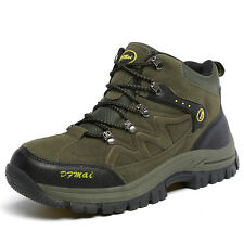 Gomnear Men Big Size Trail Hiking Boots Outdoor Non Slip High Top Athletic Shoes