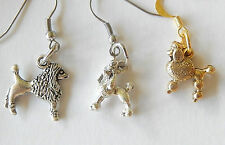 Poodles,3 styles cute dog poodle dog  gold silver tone imported hook earrings