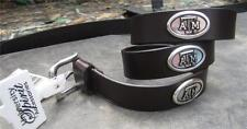NWT  Texas A&M Aggies black leather belt with silver conchos sz 46!