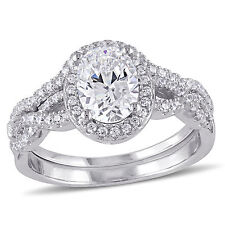 Sterling Silver Cubic Zirconia Bridal Ring set