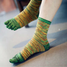 New  Sale Men's Casual Five Fingers Toe Socks Breathable Retro Color Socks
