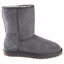 Classic Short GREY UGG Boot Black Made in Australia JUMBUCK UGG Boots SIZE 6 L