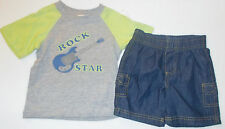 Fisher Price Toddler Boys 2 Piece Shorts Outfit Sizes 12M, 24M, 3T and 4T NWT
