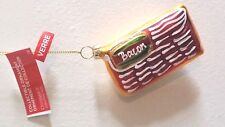 Sparkly Glass Blown Slab Of BACON Swine Lovers Christmas Tree Ornament NWT