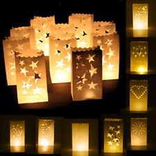 10x Luminary Candle Lantern Paper Bags Party Wedding Birthday Celebrations Decor