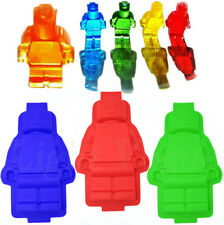 Silicone Large Robot Minifigure Man Ice Tray Chocolate Soap Mold Cake Mould u58