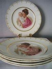 5 PORTRAIT PLATES MOTHER AND CHILD - FLORENCE BROS.OHIO