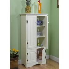 Kitchen Storage Cabinet Tall Pantry Food Organizer Cupboard Shelves Laundry New