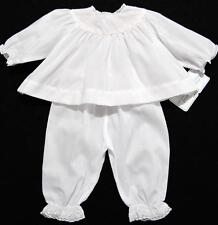 HAND~EMBROIDERED NEWBORN WHITE BATISTE TAKE ME HOME LAYETTE  W/FRENCH LACE TRIM