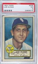1952 Topps #308 Luis Aloma PSA 3 Chicago White Sox Baseball Card