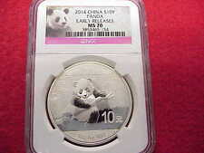 2014 China *Panda* ~S10Y ~ 1oz. 999 Silver Coin~ NGC -MS70~ EARLY RELEASES!!!
