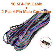 4 Pin RGB Extension Wire Connector Cable Cord for 3528 5050 RGB LED Strip light
