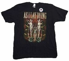 As I Lay Dying Coffin Twin Angels Mens Black T Shirt New Official Adult