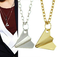 CHIC One Direction 1D Harry Styles Paper Airplane Silver & Gold Charms Necklaces