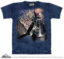 """EAGLE """"REFLECTIONS OF FREEDOM"""" ADULT T-SHIRT THE MOUNTAIN"""