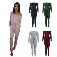 Sexy Women's Long Sleeve Playsuit Party Jumpsuit&Romper Long Trousers Clubwear