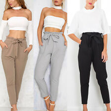 Vogue Women Lady Casual Chffion Harem Pants Comfy High Waist OL Pencil Trousers