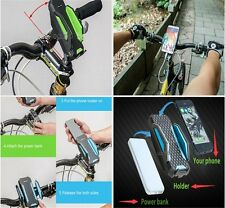 Bicycle holder Stand+ Mobile Power pack+Cable Smartphones GPS lights MP3 Players