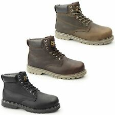 Grafters Mens SB SRA Leather Steel Toe Padded Goodyear Welted Work Safety Boots