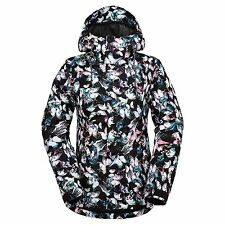 Volcom BOLT INSULATED 8K Womens Snowboard Zip Front Hoodie Jacket Small NEW 2017