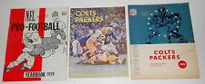 NICE LOT OF (27) BALTIMORE COLTS FOOTBALL PROGRAMS & MAGAZINES 1959-1976