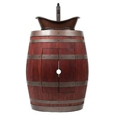 Wine Barrel Vanity Package with Bath Tub Vessel Sink and Vessel Filler Faucet