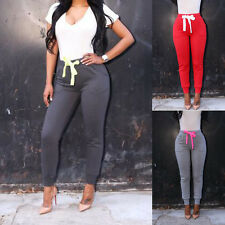 Sexy Womens High Waist Stretch Skinny Sports Pants Casual Slim Pencil Trousers