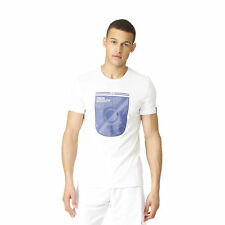 adidas Mens Gents Football Real Madrid Core Graphic T Shirt Tee Top - White