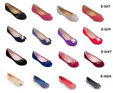 Women Ballerina Buckle Office Flats, PU Leather Work & Casual Shoes (1)
