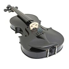 New 4/4 Full Size Natural Acoustic Wood Color Violin Fiddle with Case 4 Colors