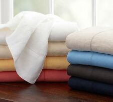 Sale 1000-Thread-Count-3PC-Ultra-Soft-Flat-Sheet-Set-Solid-100% Egyptian-Cotton